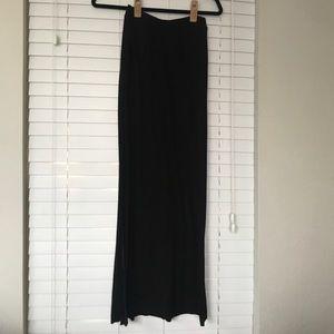 H&M black basic maxi skirt